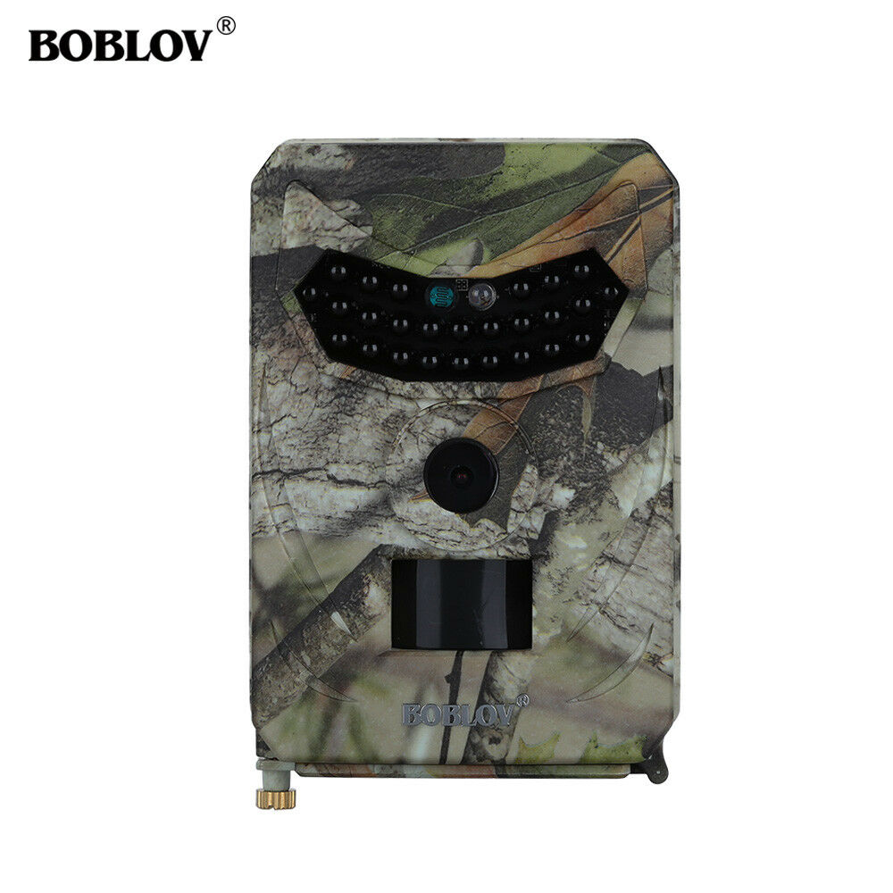 BOBLOV 12MP 1080P HD Digital Hunting Camera IP56+16GB TF Outdoor+Mounting Strap