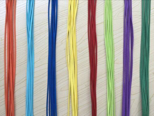 10//100pcs Colorful Suede Leather String Necklace Cord Jewelry Making 47cm DIY