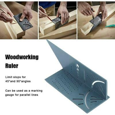 NEW 3D Measuring Tools Gauge Ruler Square Mitre Angle Size Measure Woodworking ^