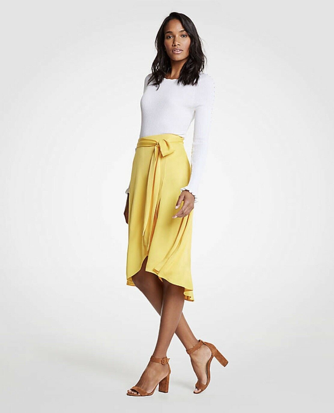Ann Taylor New NWT - Tie Wrap Wait Maxi Skirt in Sunny Day Petite 10P SOLD OUT