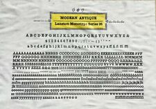 New Letterpress Type 12 Point Modern Antique