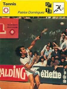 FICHE-CARD-Patrice-Dominguez-Algeria-France-TENNIS-1970s