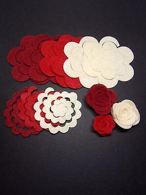 ideal for buntings Card topper 3 orange felt fox die cut craft Embellishments