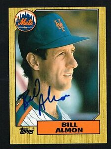 Bill-Almon-1T-signed-autograph-auto-1987-Topps-Baseball-Trading-Card
