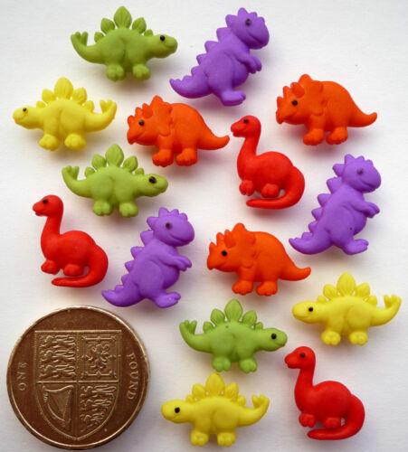 TINY DINOS Craft Buttons 1ST CLASS POST Novelty Animal Dinosaur Nature Creature