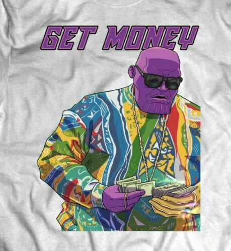 THE NOTORIOUS THANOS MASH UP GET MONEY OLDSKOOL Shirt *MANY OPTIONS*