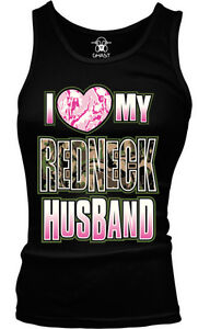 I Heart Love My Redneck Husband Camouflage Hunting Country Boy