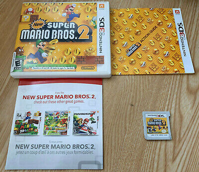 New Super Mario Bros  2 - Nintendo 3DS Classic Video Game - COMPLETE in  Case!   eBay