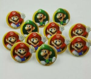 Cake Topper Decoration Party Birthday Super Mario Luigi ...