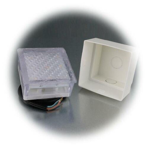 DEL Dispositif transdermique Pierre-Lampe 8x8 cm sol-encastré lumineuse transdermique-Pierre