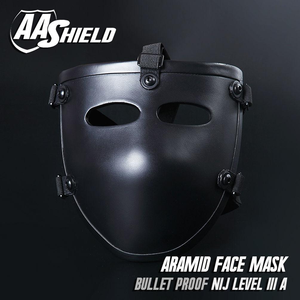 Ballistisches Sichtschutzgesicht Aramid Core Mask Lvl Level IIIA 3A