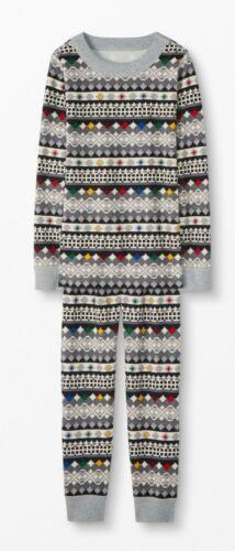 NWT Hanna Andersson Organic Long John Pajamas 80//85cm US 2 STORYTELLER FAIR ISLE