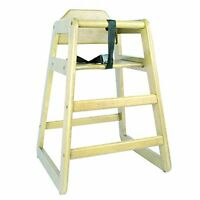 Natural Wooden High Chair, Commercial Grade Kids High Chair For Restaurant Use