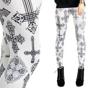 NEW Women/'s Leggings Girls Jeggings Full Print Stretchy Trousers Yoga Gym Muscle