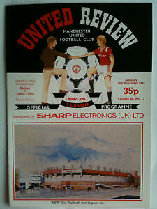 MINT 198485 Manchester United v Luton Town 1st Division with Token - <span itemprop=availableAtOrFrom>Basingstoke, United Kingdom</span> - MINT 198485 Manchester United v Luton Town 1st Division with Token - Basingstoke, United Kingdom