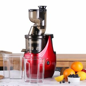New-Whole-Slow-Masticating-Juicer-Cold-Press-Quiet-Durable-RED-for-Veggies