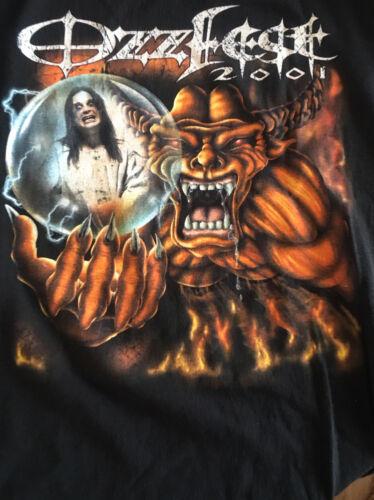 OzzFest  2001 shirt LARGE Black