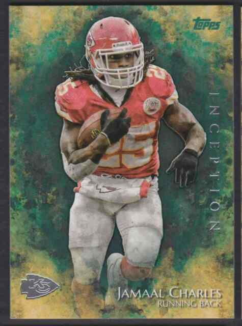 2014 TOPPS INCEPTION GREEN JAMAAL CHARLES KANSAS CITY CHIEFS #26 PARALLEL