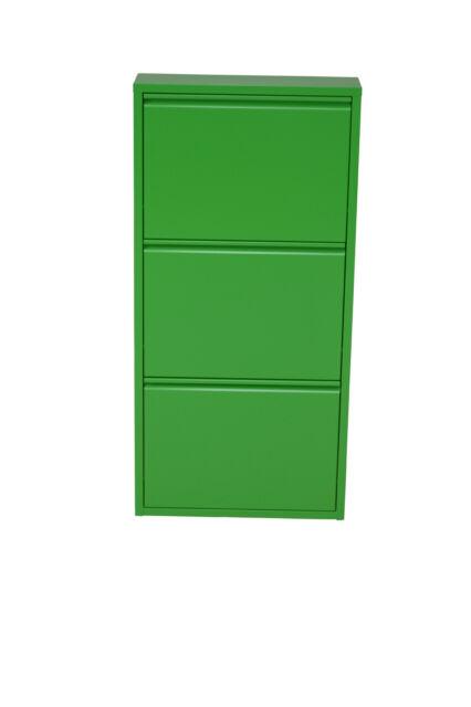 moebel direkt online Schuhschrank mit 3 Klappen Grün