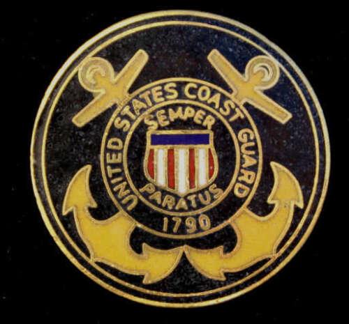 US COAST GUARD AUXILIARY HAT PATCH USCG EMBLEM LOGO PIN UP SEMPER PARATUS VET