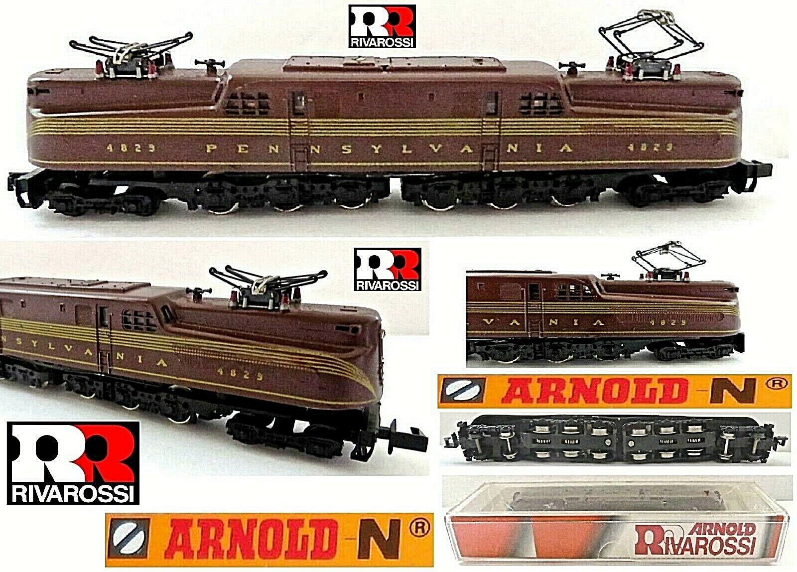 Arnold Rivarossi 5131 Vintage Locomotora GG1 Tuscan-rojo Pennsylvania USA Escala