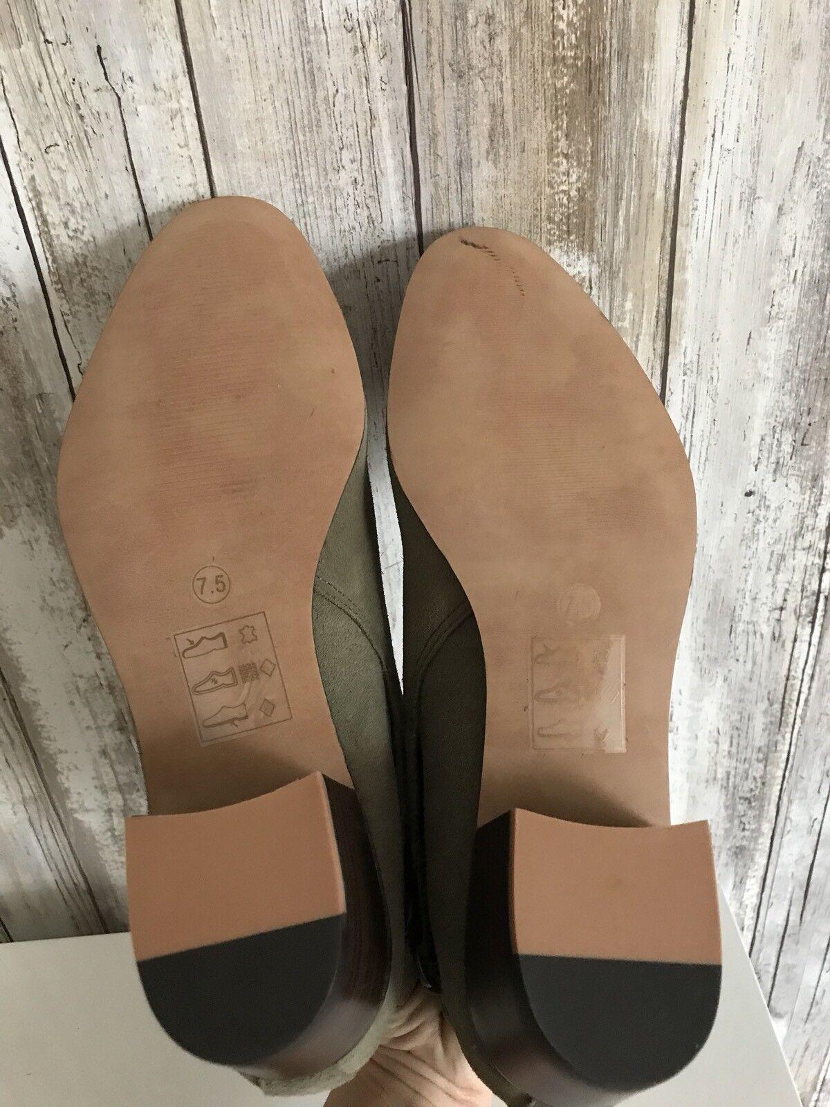 Sole Society LEO Gray Ash Grün Gray LEO Suede Buckle Ankle Stiefel 7.5 NEW 580f7c