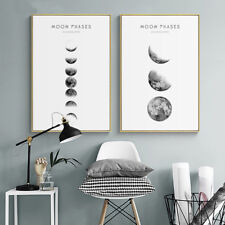 MOON PHASES CYCLE GLOSSY POSTER PICTURE PHOTO PRINT sun moon orbit lunar 4211
