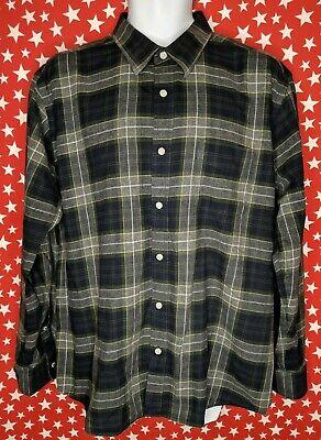 Nat Nast Luxury Silk Blend Button Up Shirt Royal Navy Pocket Large NN01