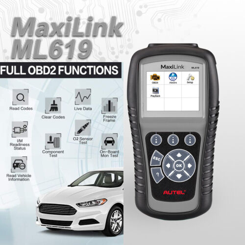 Autel MaxiLink ML619 CAN OBD2 Code Reader Scanner ABS SRS Diagnostic Scan Tool