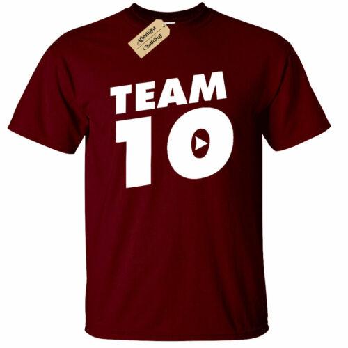 Mens Jake Paul Logan Team 10 T-Shirt top you tuber Funny Maverick