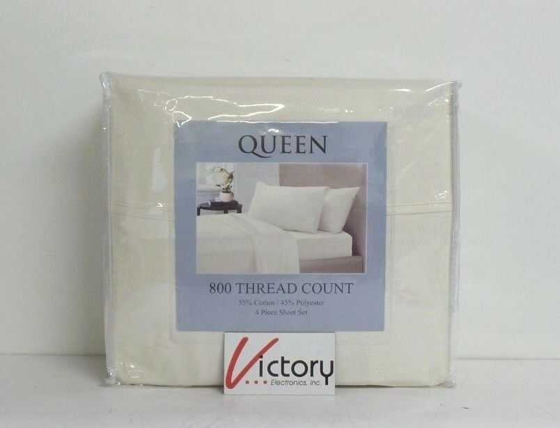 NEW 800 Thread Count 4 Piece Queen Sheet Set   55% Cotton, 45% Polyester   Cameo