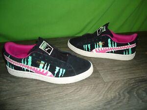 Puma suede teeth cheetah shoes size 6