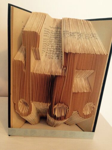 Toy Train Folded Book Art Folding PATTERN ONLY Christening//New baby gift #058