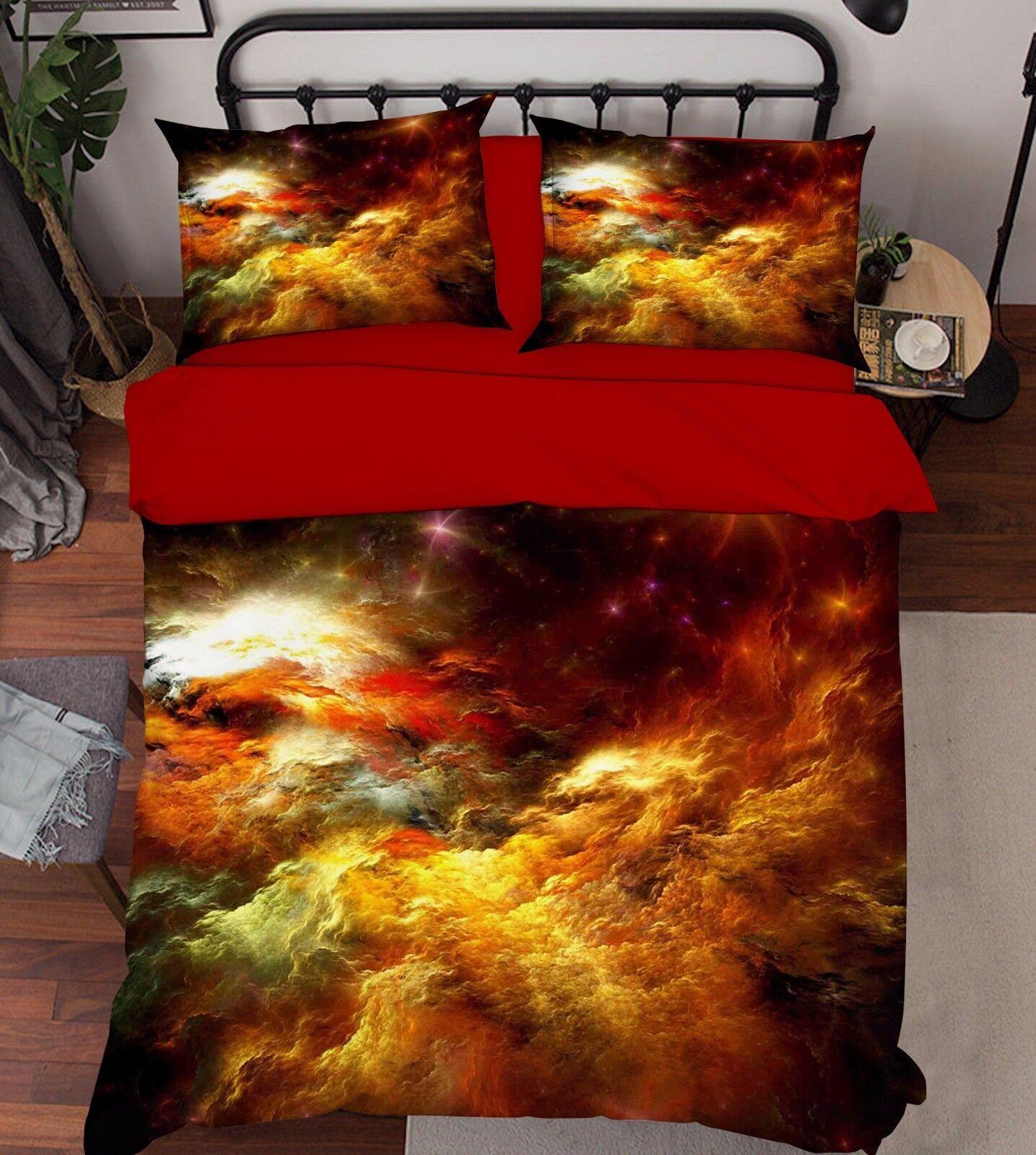 3D Farbe Clouds Bed Pillowcases Quilt Duvet Cover Set Single Queen King Größe AU