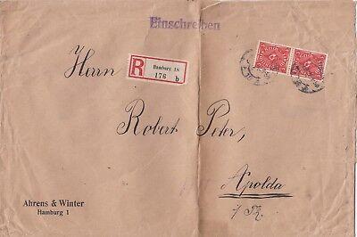 Hamburg Ahrens & Winter Gute WäRmeerhaltung Briefumschlag 1922