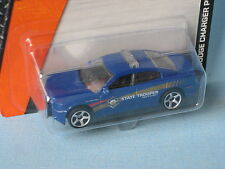 Matchbox Dodge Charger Police Car State Trooper Blue Toy Model car 70mm in BP