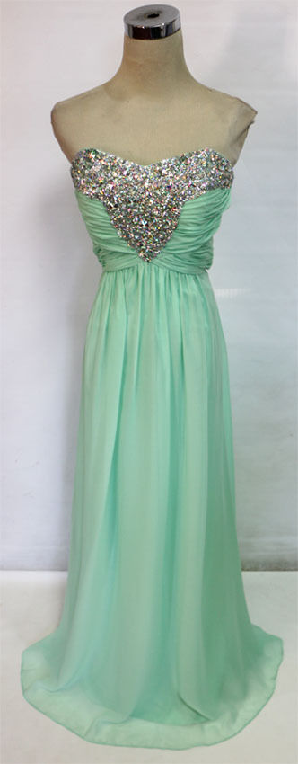 WINDSOR Mint Formal Prom Evening Party Gown 8 -  190 NWT