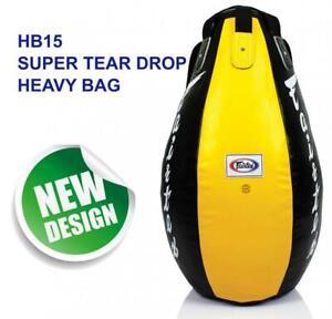 FAIRTEX HB15 TEAR DROP BAG PUNCH MUAY THAI MMA BOXING UNFILLED DHL EXPRESS
