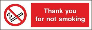 Thank-You-For-Not-Smoking-Sign-V6PSMO0011-VAT-Invoice-Supplied