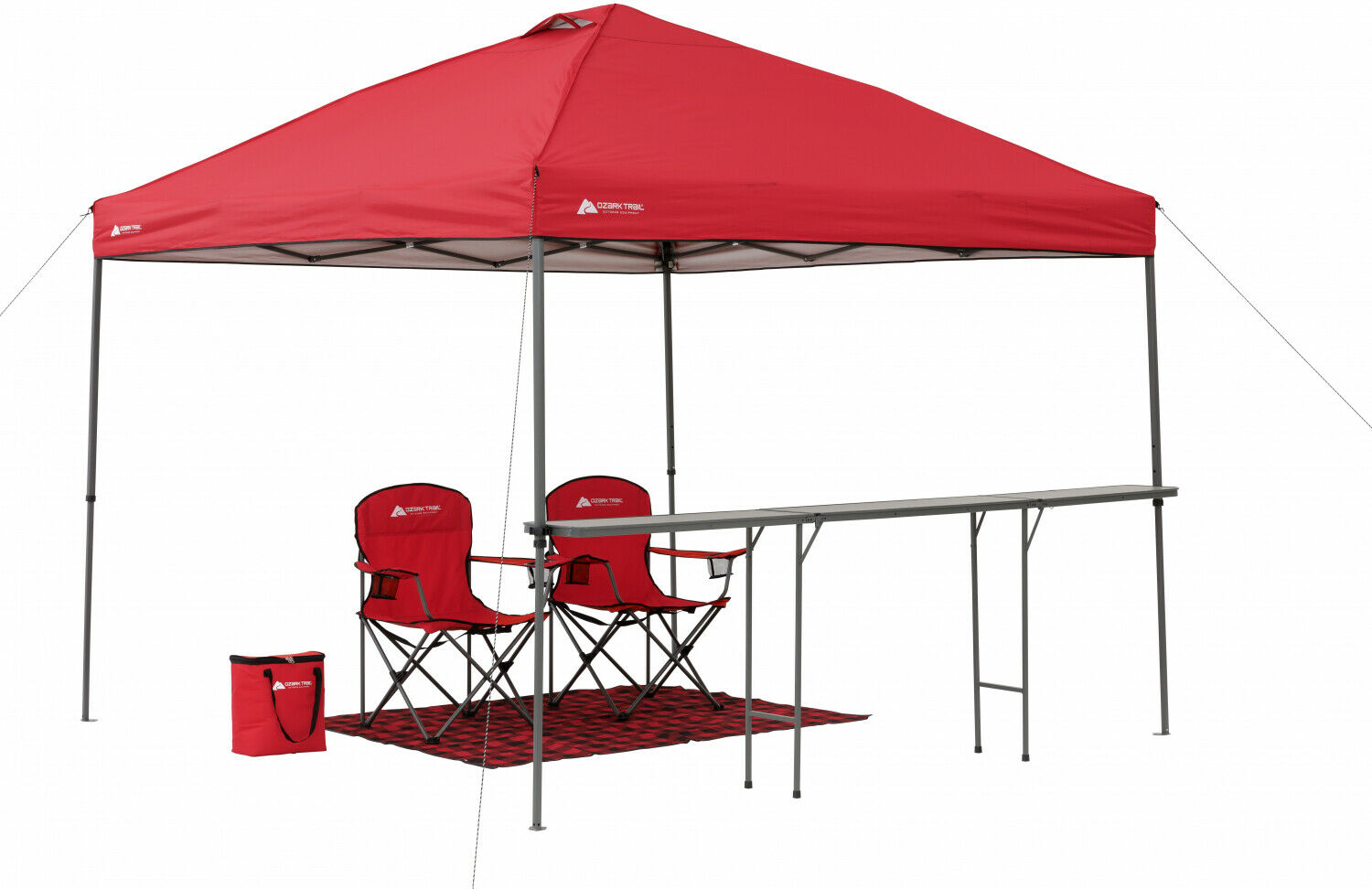 10 X 10 Lighted Tailgate Instant Canopy TENT Pop UP Gazebo Beach all'aperto Shade