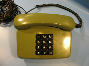 Telephon 1980.Jahre große Drucktastatur in Grün Bundespost mit Funktion