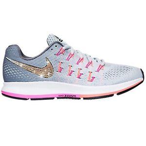 Bling Nike Air Zoom Pegasus 33 Shoes w  Swarovski Crystal   Grey ... 627f04c3e