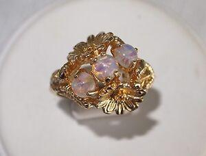 Vintage Avon Gold Opal Ring
