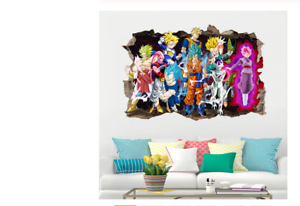Sticker-Vinyl-Decal-Decor-Dragon-Ball-Z-Goku-Cartoon-3D-Kids-Anime-Wall-Room