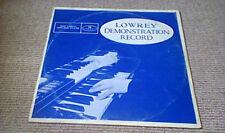 JERRY ALLEN LOWREY DEMONSTRATION RECORD PRIVATE PRESS UK LP 1969 LOWREY ORGANS