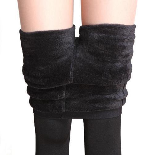 Women Winter Black Thick Warm Soft Fleece Lined Thermal Stretchy Leggings Pants