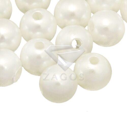 30-200Stk Perle Acryl Rund Cabochon Beige DIY Schmuckherstellung 4//6//8//10//12mm