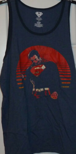 Superman Tank Top Sleeveless Muscle T Shirt New NWT
