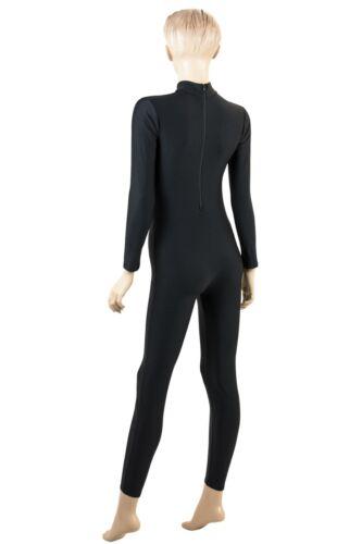 Damen Ganzanzug RRV Schwarz Sport Voltigieranzug stretch elastisch shiny