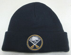 0578ce9ddf5 Image is loading NHL-Buffalo-Sabres-Youth-Navy-Blue-Cuffed-Knit-